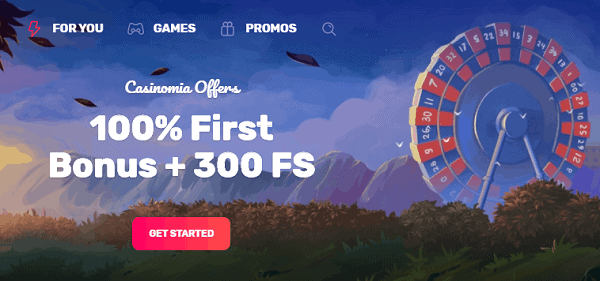 100% Bonus and 300 Free Spins Promotion