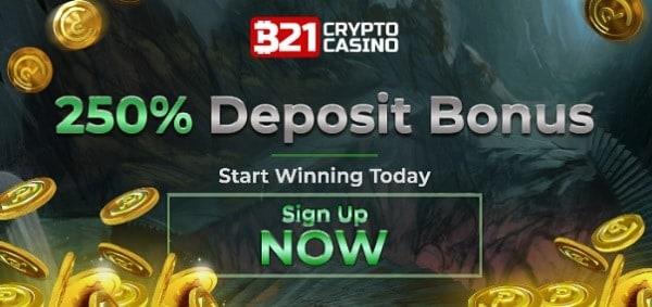 250% welcome bonus