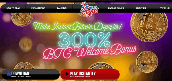 300% BTC welcome bonus