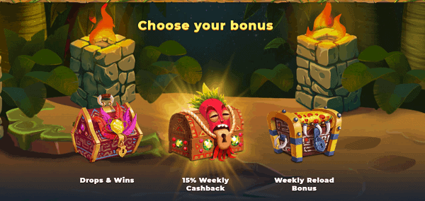 Choose Your Welcome Bonus!