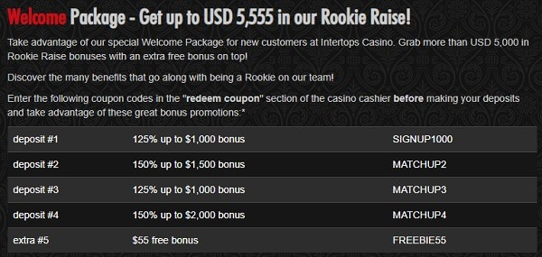 $10 free bonus to play online