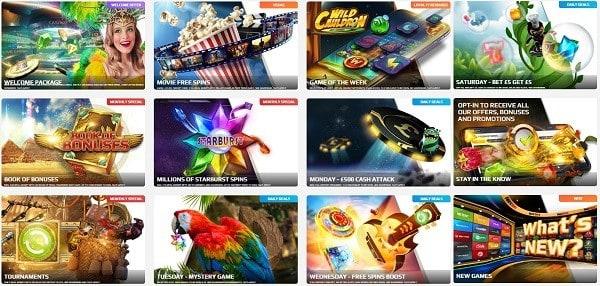 Slots, Live Games, Jackpots, Poker, Sports