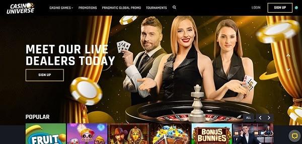 Live Dealer, Slots, and Jackpot Games