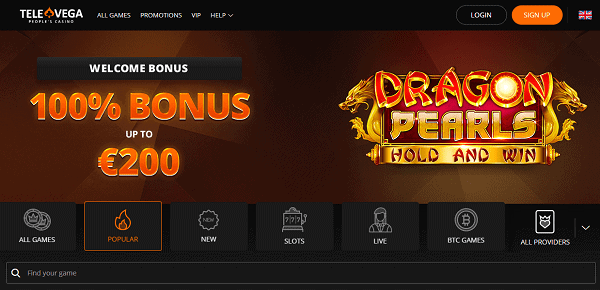 100% bonus and 100 free spins on new deposit