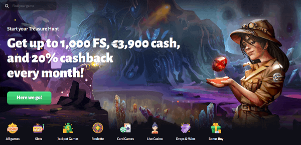 1000 free spins and 3,900 EUR up for grabs