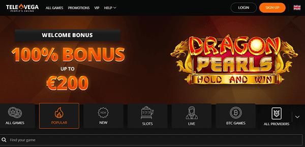 Tele Vega Casino Free Spins & No Deposit Bonus