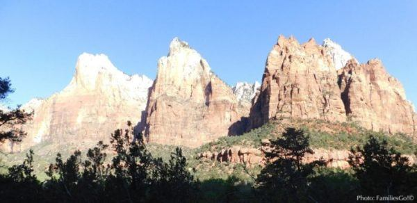 the court of the patriarchs at Zion Park