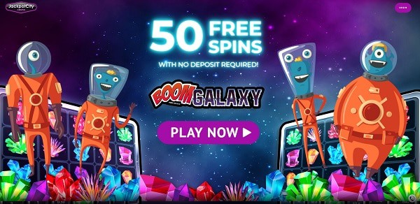 50 Free Spins on Jackpotcity!