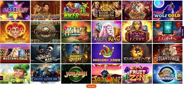The best online slots, jackpots and live dealer!