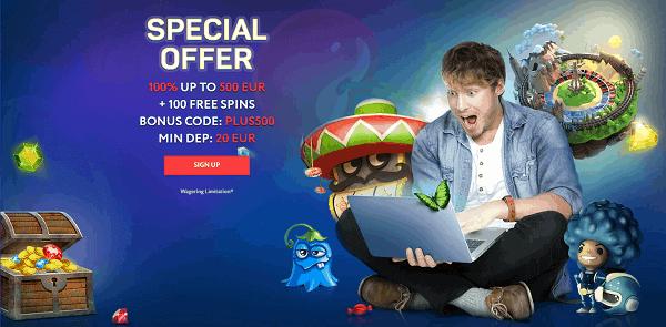 Get free spins on registration!