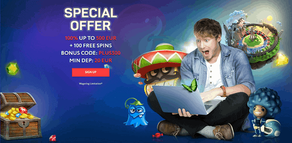 Special Offer: 100% bonus and 100 Free Spins