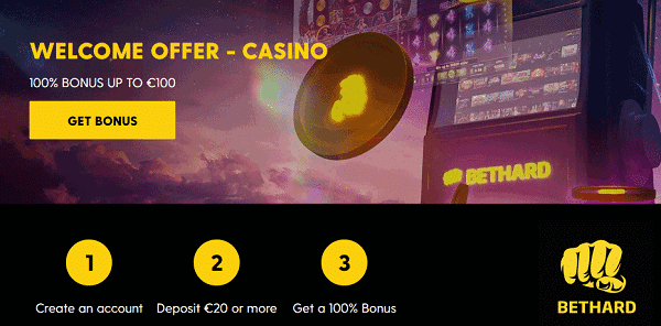 100% bonus on slots and live dealer and sportsbook