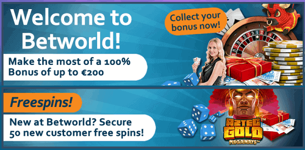 100% welcome bonus + 50 free spins on slot machines