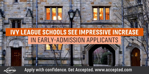 Ivy league schools see impressive increase in early-admissions applicants