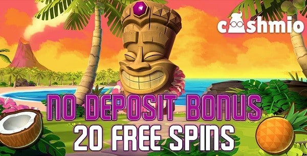 20 free spins on Aloha Cluster Pays at Cashmio.com