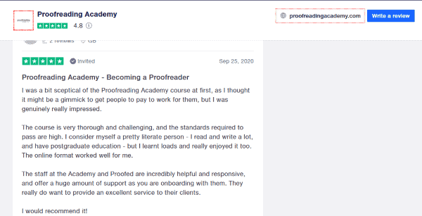 proofreading academy reviews