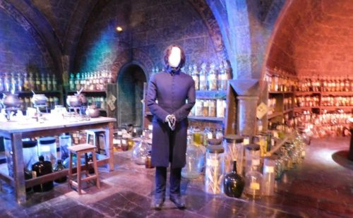 Snape in his potions classroom at the warner brothers tour