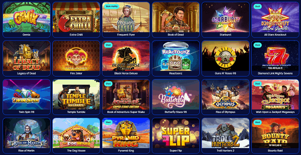 Premium Games: slots, table games, live dealer