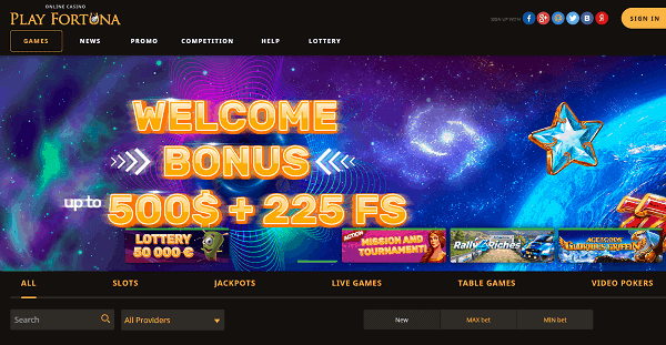 225 free spins and $500 welcome bonus pack