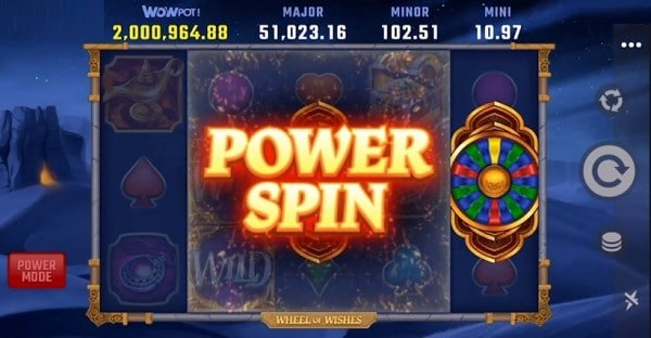 Wheel of Wishes Power Spin, Free Spins, Jackpot Winner