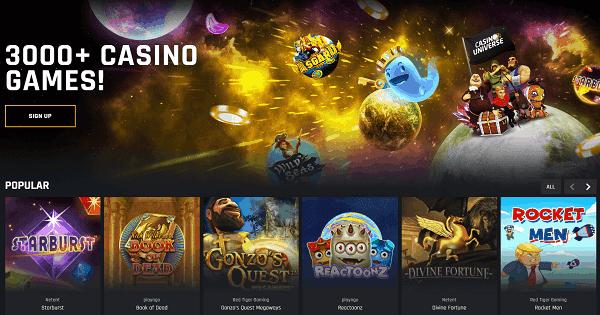 3000+ Games & Live Dealer