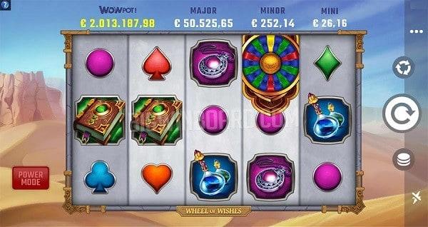 Wheel of Wishes new Microgaming progressive jackpot slot