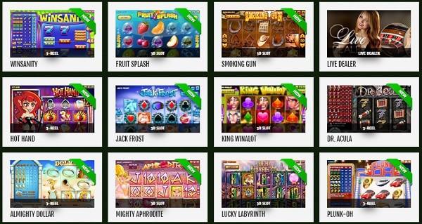 888 Tiger slots, table games, poker, live dealer