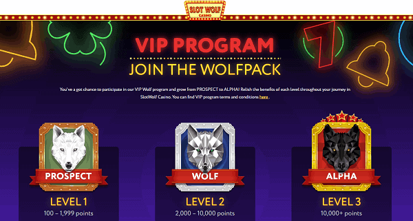 VIP program and Wolfpack