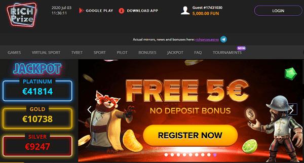 5 EURO no deposit bonus