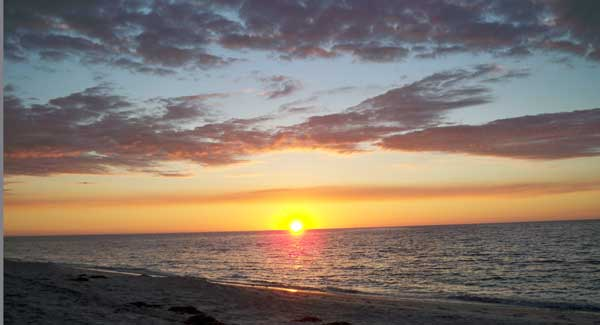 Sunset is one of the big events during a stay at Cayo Costa State Park.
