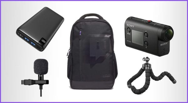 Mobiles Twitch Streaming Equipment (für IRL Streams mit Rucksack)