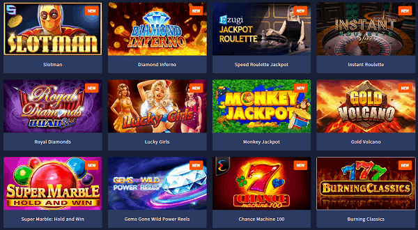 Play new slots and live games