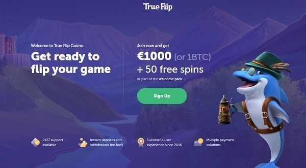 1000 EUR + 50 Free Spins on 1st deposit!