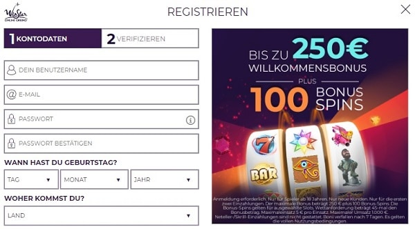 250 EUR and 100 FREE SPINS in welcome bonus