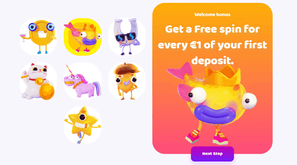 Get a free spin for every 1 EUR your first deposit!
