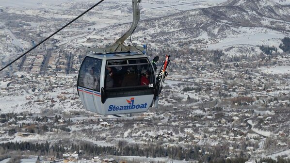 The gondola at steamboat springs provides awesome 360-degree views, even if you don't ski.