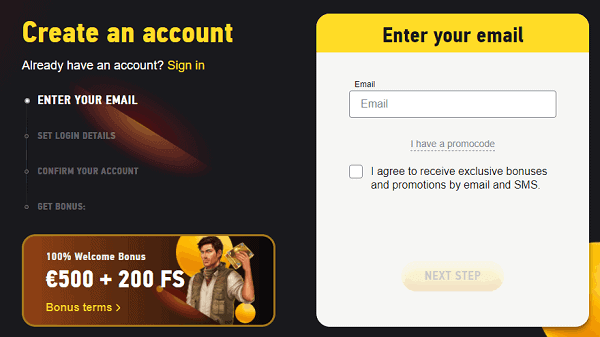 Open Your Account And Get Free Games!