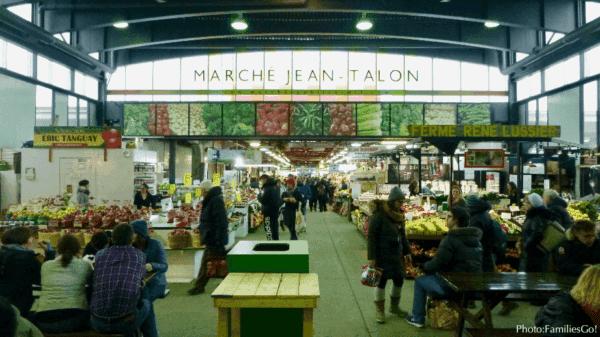 Jean talon is a fun green market in montreal