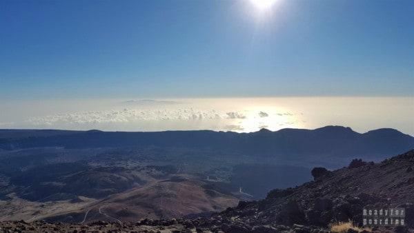 Gran Canaria widoczna z Teide, Teneryfa - Wyspy Kanaryjskie