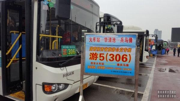 Autobus do Armii Terakotowej, Xi'an, Chiny