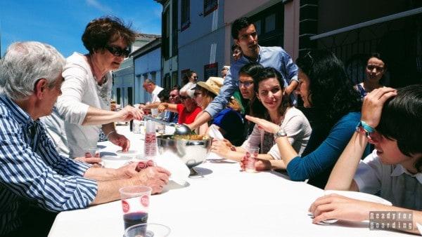 Świętowanie w Ribeira Grande, Azory