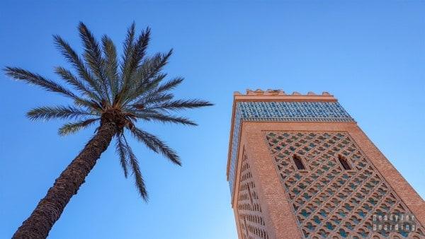 Minaret w Marrakeszu - Maroko