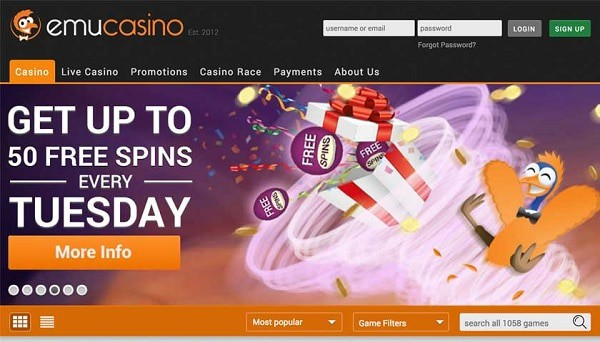50 free spins on Tuesday