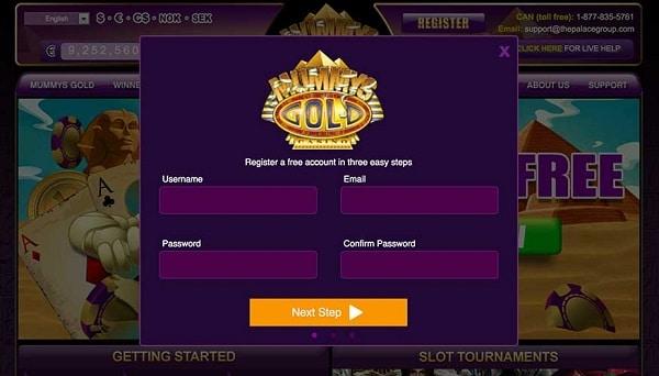 Mummys Casino 25 gratis spins