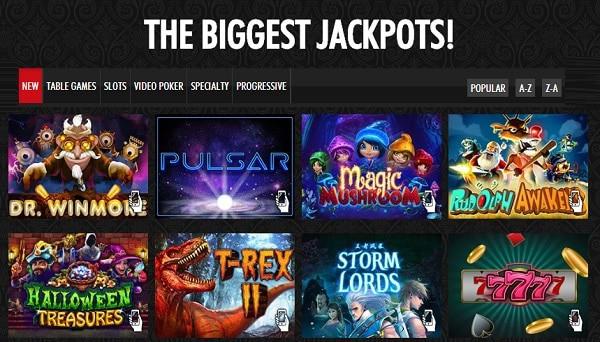 RTG jackpot games and live dealer