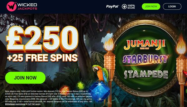 Get 25 free spins bonus!