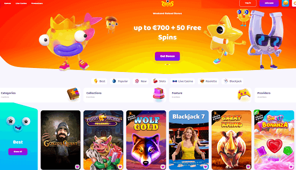Register at 7Signs Casino and get free spins!