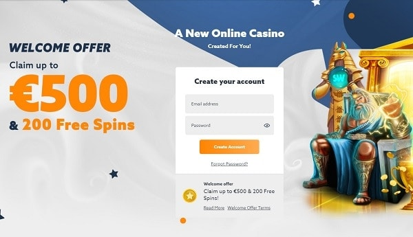 Get 100% bonus and 200 Free Spins!