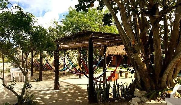 hammocks at Playa Uvas