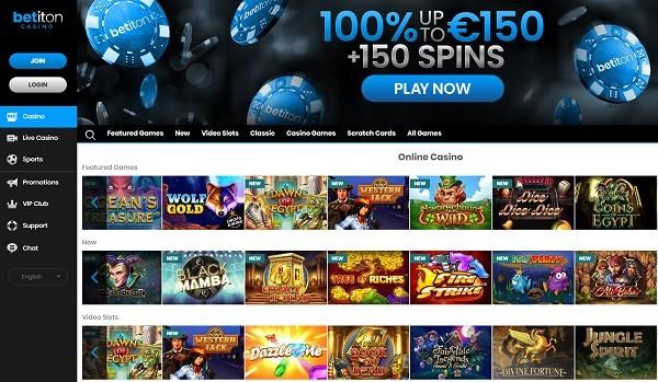 Betiton Casino free spins, bonus codes, promotions, VIP, loyalty rewards